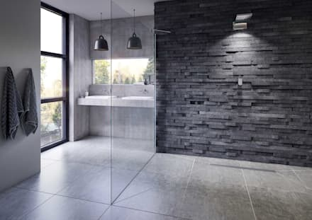 Bathroom CGI Visualisation #9: rustic Bathroom by White Crow Studios Ltd