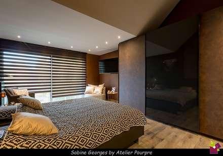 Aménagement suite parentale: Chambre de style de style Moderne par Atelier Pourpre Design & Décoration SPRL