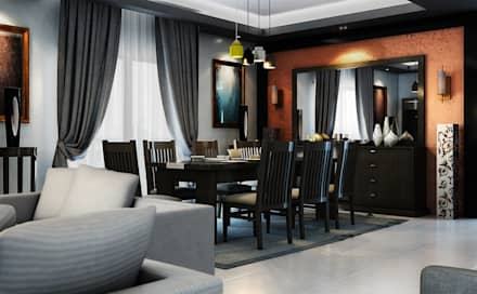 Dining:  غرفة السفرة تنفيذ Boly Designs