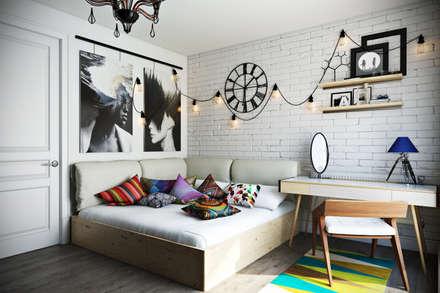 Проект квартиры в городе-парке «Переделкино Ближнее»: Спальни в . Автор – Дизайн Мира