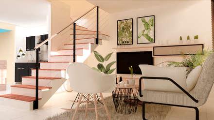 Sala - Ingreso de la casa: Salas de estilo moderno por Polygon Arquitectura