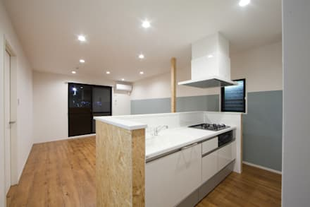 【Renotta】RETRO LIFE: 株式会社クラスコデザインスタジオが手掛けたキッチンです。