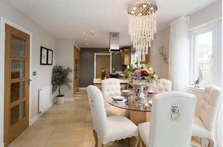 Take a step into luxury each day..: modern Dining room by Graeme Fuller Design Ltd
