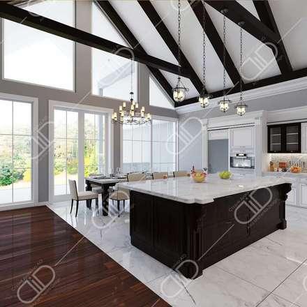 Interior Design and Rendering: classic Dining room by Design Studio AiD