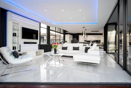 Superbe ULTRA MODERN RESIDENCE: Modern Living Room By FRANCOIS MARAIS ARCHITECTS