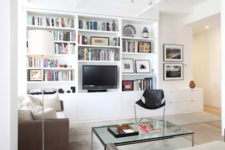 Chelsea Loft: modern Living room by Maletz Design