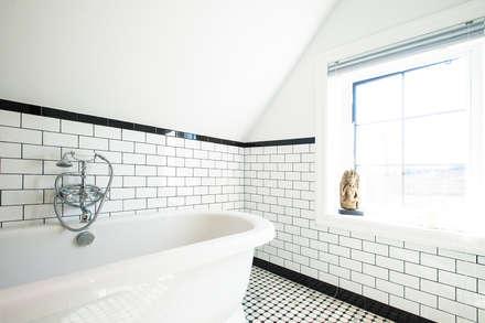 Edwardian Renovation: modern Bathroom by Solares Architecture