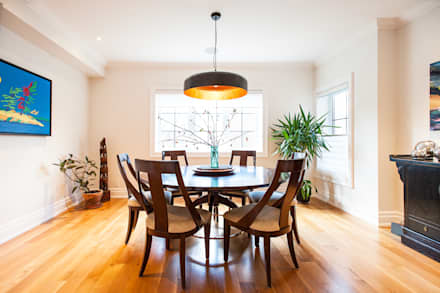 Edwardian Renovation: modern Dining room by Solares Architecture