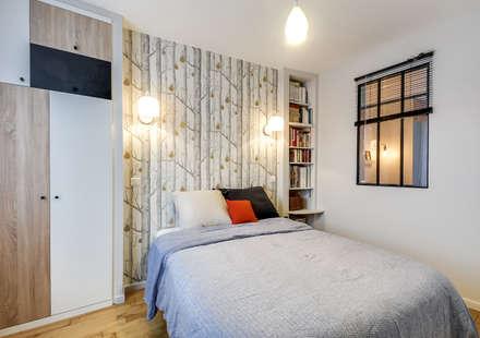 Chambre à coucher: Chambre de style de style Scandinave par LD&CO.Paris 'La Demoiselle et la Caisse à Outils'