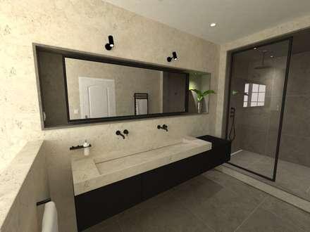 Réaménagement d'une salle de bain: Salle de bain de style de style Moderne par La Fable