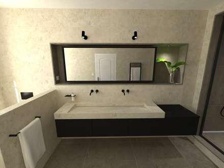 Réaménagement d'une salle de bain: Chambre de style de style Minimaliste par La Fable