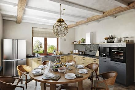 Немного современных тенденций в дизайне интерьера: Столовые комнаты в . Автор – Дизайн студия Алёны Чекалиной