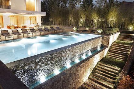 Jardin réalisé autour de l´harmonie, nature et habitat: moderner Pool von Paul Marie Creation