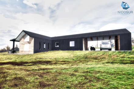 CASA 3N: Casas de estilo moderno por NidoSur Arquitectos