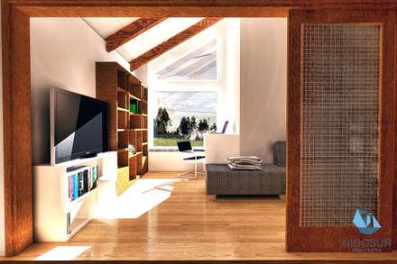 CASA 3N: Estudios y biblioteca de estilo  por NidoSur Arquitectos