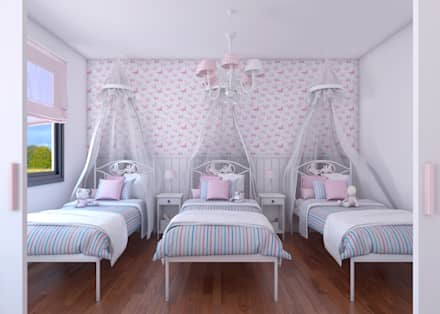 Dormitorio infantil_vista 1: Dormitorios infantiles de estilo clásico de A3D INFOGRAFIA