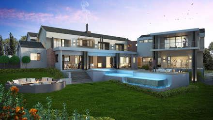House Ntsele: modern Houses by Urban Habitat Architects