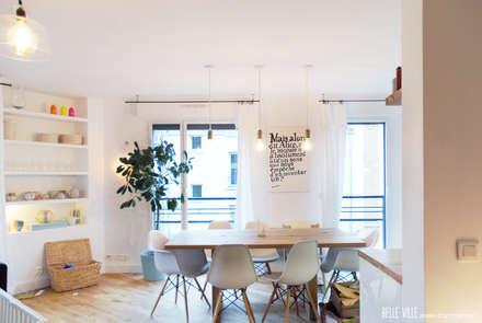 salon: Salle à manger de style de style Scandinave par Belle Ville Atelier d'Architecture