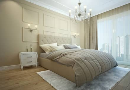 apartments in Moscow: modern Bedroom by design studio by Mariya Rubleva