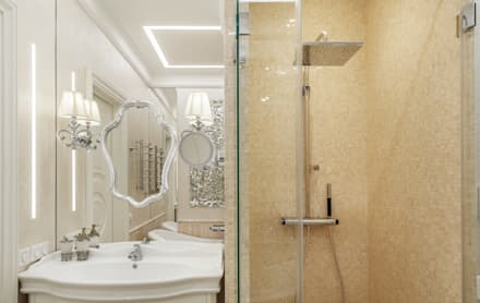 apartment in the center of Moscow: classic Bathroom by design studio by Mariya Rubleva