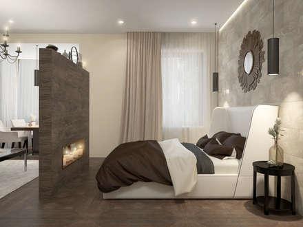 townhouse in modern style: modern Bedroom by design studio by Mariya Rubleva
