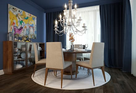 townhouse in modern style: modern Dining room by design studio by Mariya Rubleva
