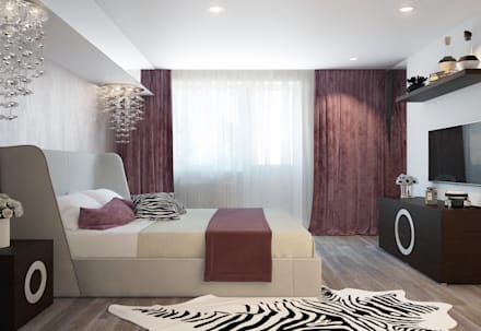 large apartment in a modern style in Moscow: modern Bedroom by design studio by Mariya Rubleva