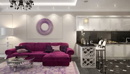 apartments in a classic style in Moscow : modern Living room by design studio by Mariya Rubleva
