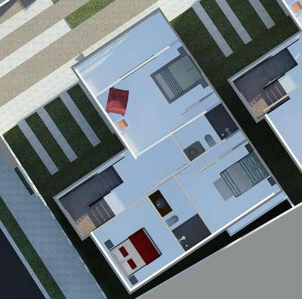 Planta alta (visualización de espacios): Cuartos de estilo minimalista por Diseño Store