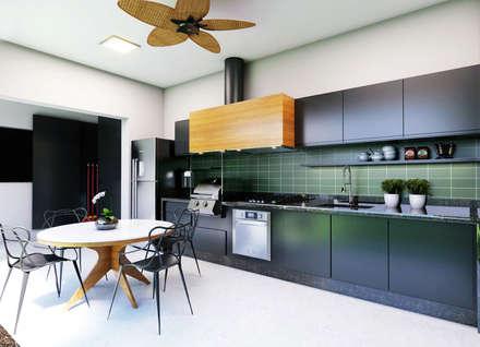 Casa WW : Cozinhas modernas por canatelli arquitetura e design