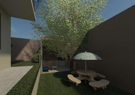 vista del patio y jardín : Jardines de estilo  por Diseño Store