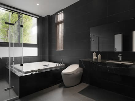 Baños de estilo moderno por 夏沐森山設計整合