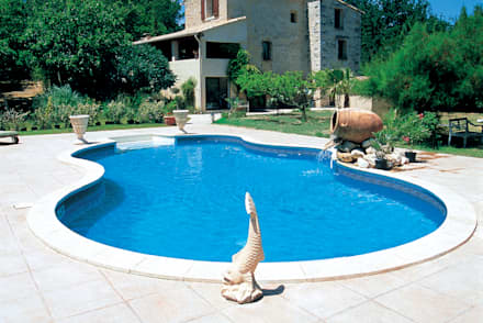 Piscinas inspira o e design homify for Piscina c so sebastopoli torino