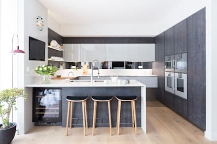 Modern new home in hampstead kitchen bar modern dining room by black and milk