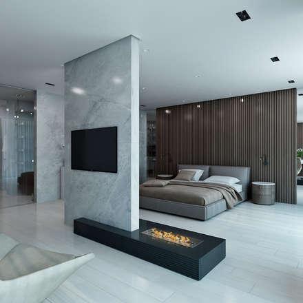 Hayt Regency Sochi: Спальни в . Автор – дизайн студия Антона Сухарева