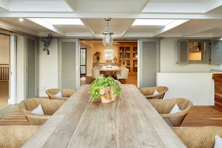 Out door dining: eclectic Dining room by JSD Interiors