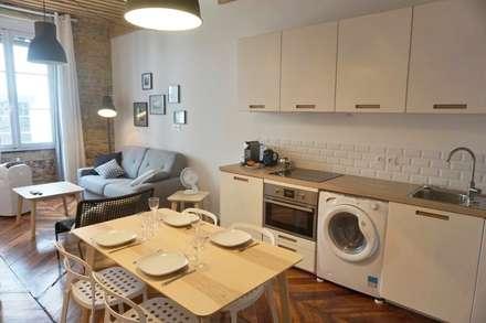Aménagement D'un appartement LYON: Salle à manger de style de style Scandinave par AL Intérieurs