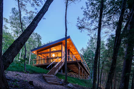 Lac St. Sixte Summer Residence: modern Houses by Flynn Architect