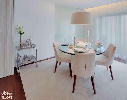 2015, Decoração de Apartamento BI: Salas de jantar minimalistas por B.loft