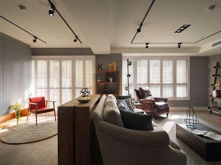 mediterranean Living room by 陶璽空間設計
