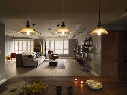 上城魅力,灰調美式:  餐廳 by 陶璽空間設計