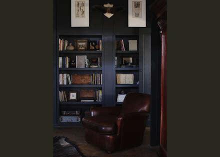 rustic Study/office by David Strauss Interiors