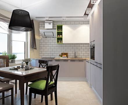 2к.кв. в ЖК Черемушки 2 (70 кв.м): Кухни в . Автор – ДизайнМастер