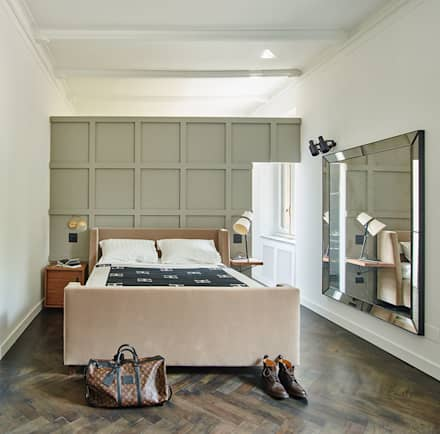 MONCALVO: Camera da letto in stile in stile Moderno di Studio Fabio Fantolino