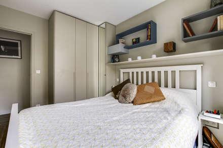 Nation (rénovation d'appartement): Chambre de style de style Moderne par deSYgn by JM2