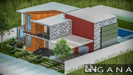 Casa A+: Casas de estilo moderno por Grupo GANA