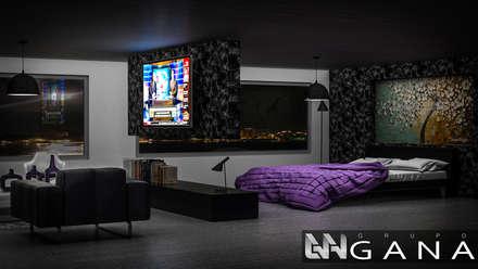 Habitación Principal: Cuartos de estilo moderno por Grupo GANA, C.A.