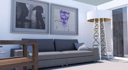 : eclectische Woonkamer door MEL design_