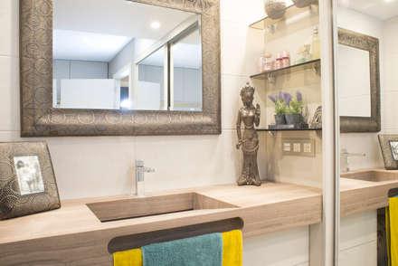 VIVIENDA C46: Baños de estilo asiático de Fran Clausell · Interiorismo Sostenible