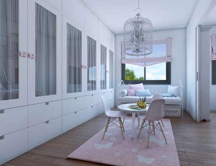 Dormitorio infantil_vista 2: Dormitorios infantiles de estilo clásico de A3D INFOGRAFIA